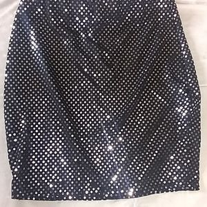 Mini Skirt Metallic Polka Dot Pretty Little Thing